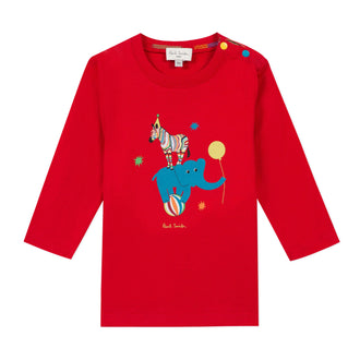 Bullo Main Line Berry Red Graphic Tee