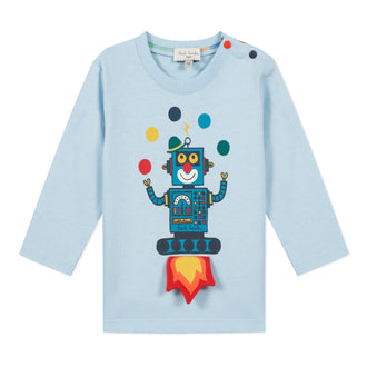 Balou Light Blue Juggling Robot Tee