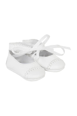 Baby Louisiane White Baby Shoe