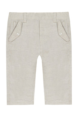 Baby Ceremonie Beige Linen Pants