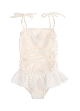 Ivory Embroidered Swimsuit