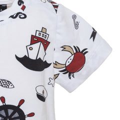 White Nautical Theme Tee