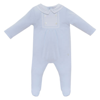 Light Blue Bib Front Footie