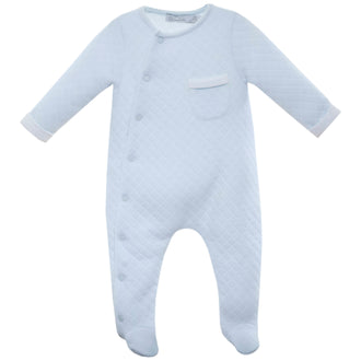 Light Blue Quilted Footie