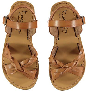Brown Braided Sandals