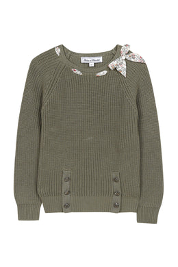 Madras Khaki Knit Sweater