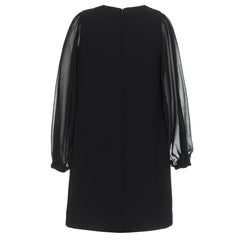 Sheer Sleeve Shift Dress