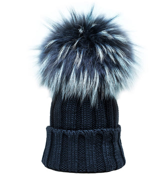Denim Blue Hat W/Murmasky Tint Pom