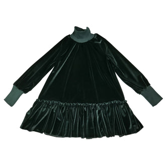 Gia Black Soft Velvet Dress