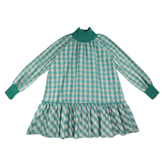 Gia Green Chequered Dress