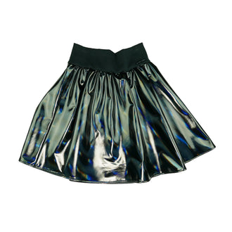Lila Black Mettalic Skirt
