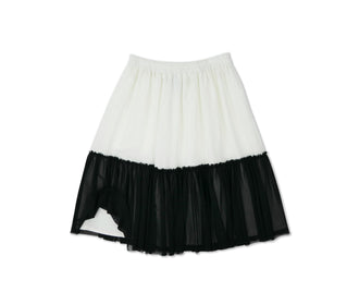 Ryan Off White/Black Tulle Skirt