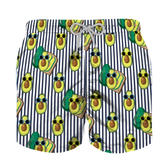 Avocado Print Swim Shorts