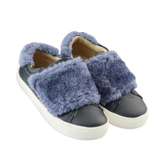 Fur Master/Blue Rinse Fur Step-In Sneakers