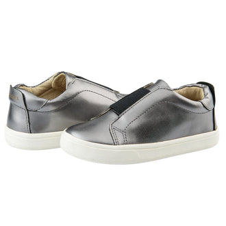 Peak Shoe Rich Silver Step-In Sneaker