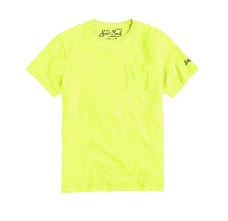 Neon Tee with Pocket Detail
