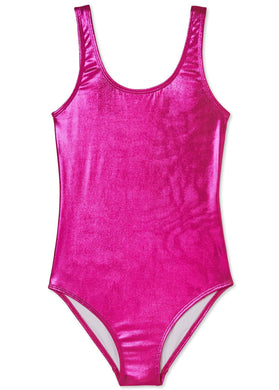Pink Metallic Swimsuit