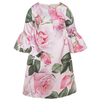 Rose Garden Bell Sleeve Dress