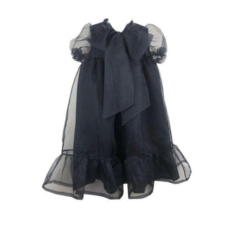 Eucalipto Black Organza Bow Party Dress