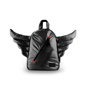 Black Mini WIngs Backpack