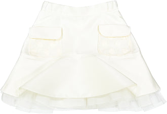 Cream Tafetta Skirt