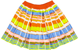 Colored Pleat Front Skirt