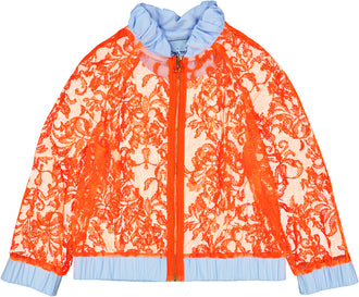 Neon Orange Lace Jacket