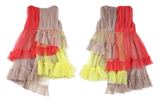 Astrid Asymetric Tulle Dress