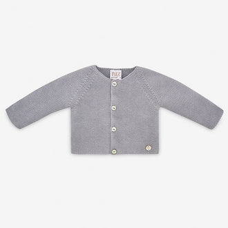 Saturno Grey Knit Cardigan