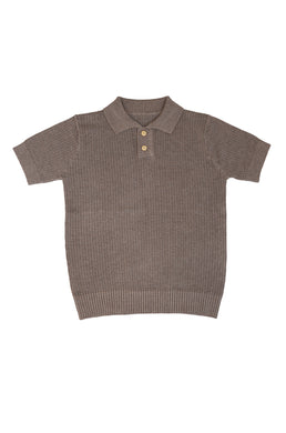 Summer Brown Knit Polo