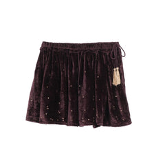 Emma Purple Velvet Star Skirt