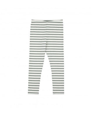 Grey/Green Small Stripes Pants