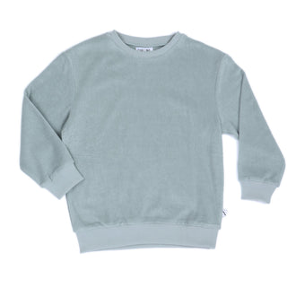Arona Blue Long Sleeve Solid Sweater