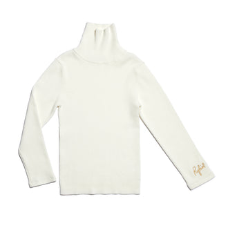 Badelia Ivory Turtleneck Sweater
