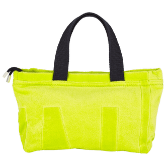 Yellow Jacquard Terry Beach Bag