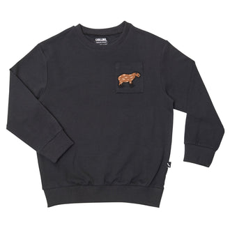Black Capybara Sweater