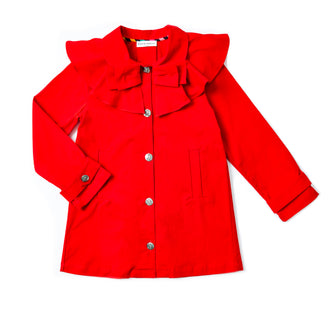 Colombe Red Ruffle Jacket