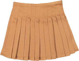 Camel Pleated Skirt