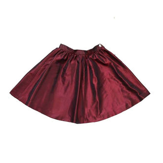 Pionites Burgundy Gathered Skirt