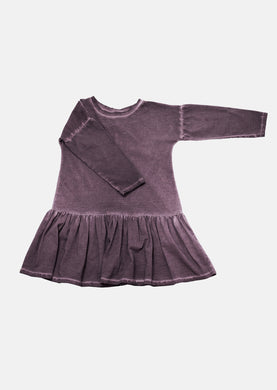 Aubergine Dropwaist Dress