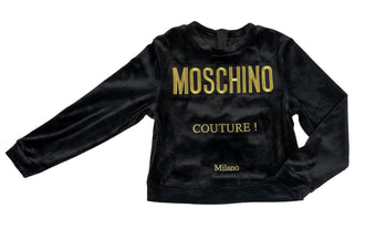 Black Couture Logo Chenille Sweatshirt