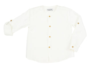 Ivory Collarless Shirt