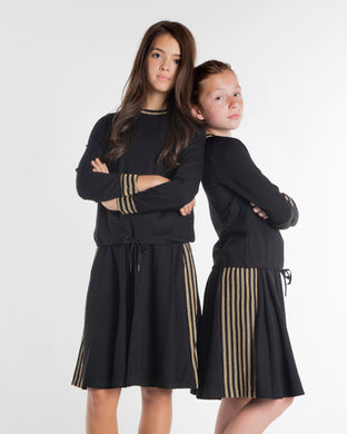 Black With Gold Stripe Skirt