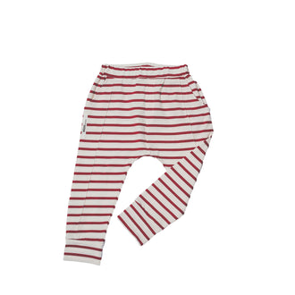 Red Striped Bird Pants