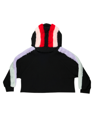 Lucca Black Multi Color Hoodie