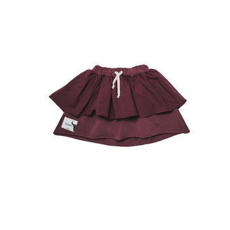 Burgundy Wave Skirt