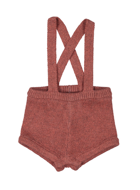 Dusty Pink Knit Short Romper