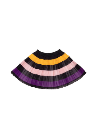 Ebene Pleated Striped Skirt