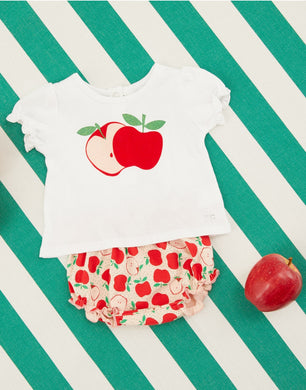 Ete White Apple Bloomer Set