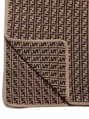 Brown Allover Logo Blanket